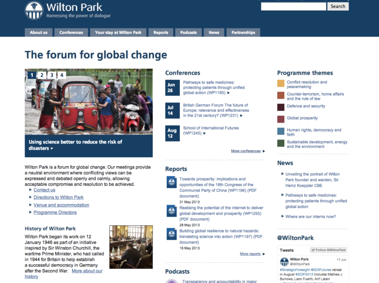 Helping Wilton Park present its unique discussions image