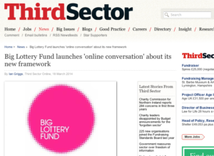 Third Sector: Big Lottery Fund launches 'online conversation' about its new framework thumbnail image