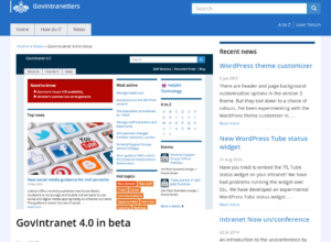 GovIntranet 4.0 in beta thumbnail image