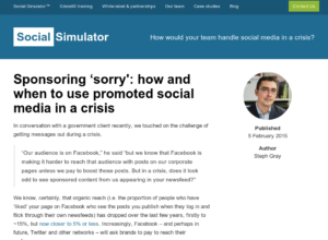 Sponsoring 'sorry': how and when to use promoted social media in a crisis thumbnail image