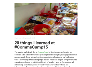 20 things I learned at #CommsCamp15 thumbnail image