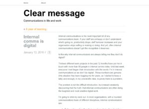 Internal comms is digital thumbnail image