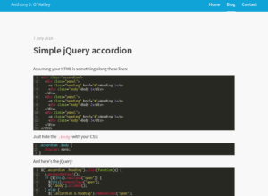 Simple jQuery accordion thumbnail image