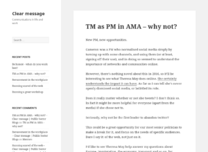 TM as PM in AMA – why not? thumbnail image