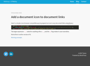 Add a document icon to document links thumbnail image