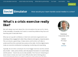 What's a crisis exercise really like? thumbnail image