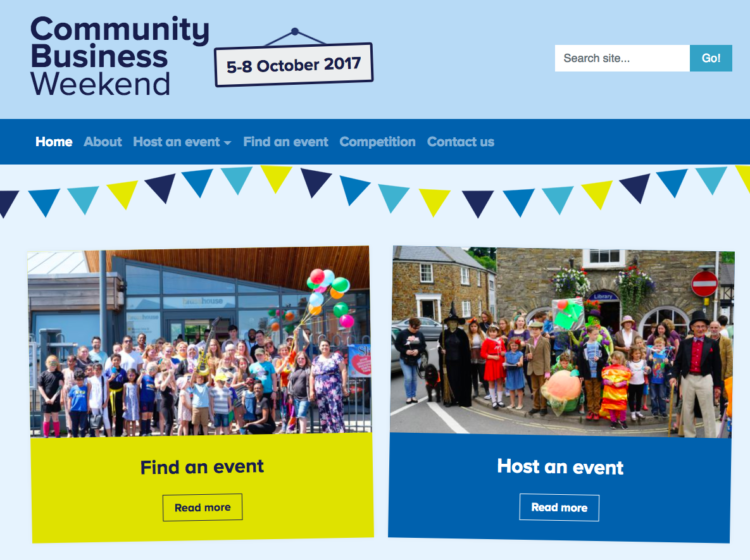 Events hub for Community Business Weekend image