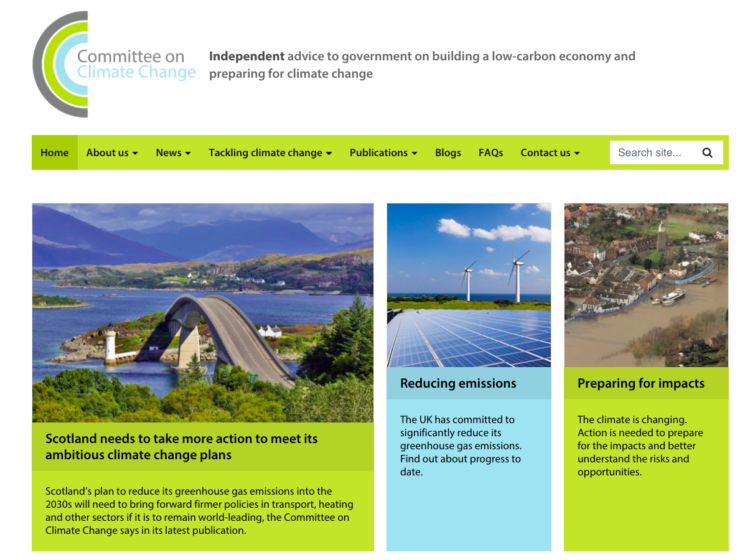 Publishing the evidence base for climate change policy image