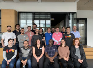 Happy participants of the 2019 Berlin IndieWebCamp 2019 Day 1