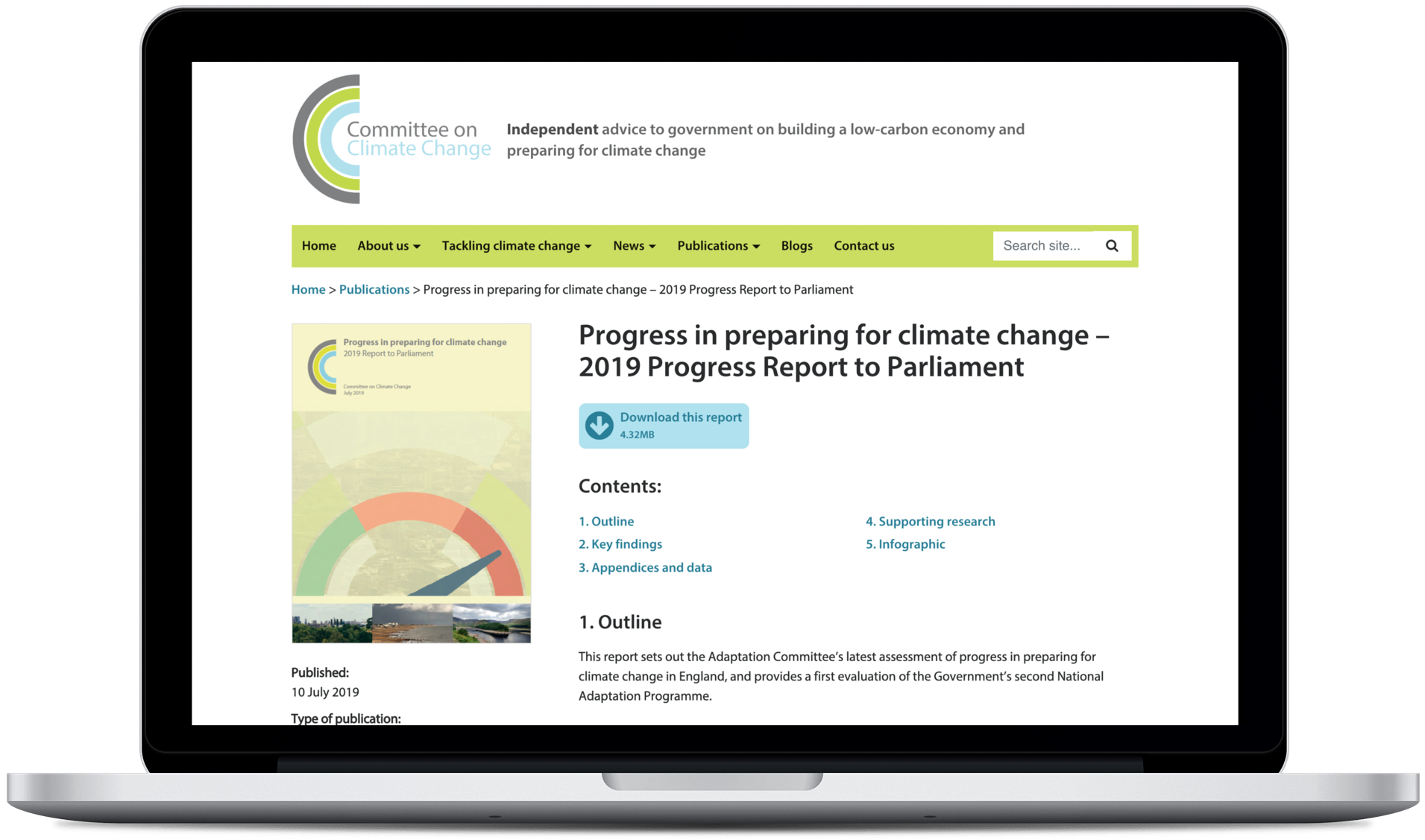 Understanding data user needs for the Committee on Climate Change