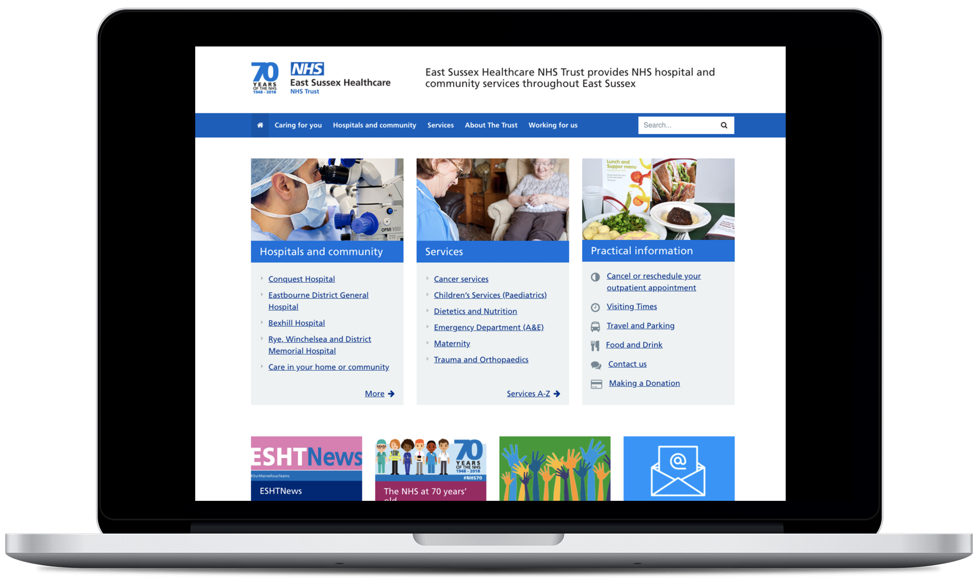 Helping NHS patients find answers quickly with a mobile-first site