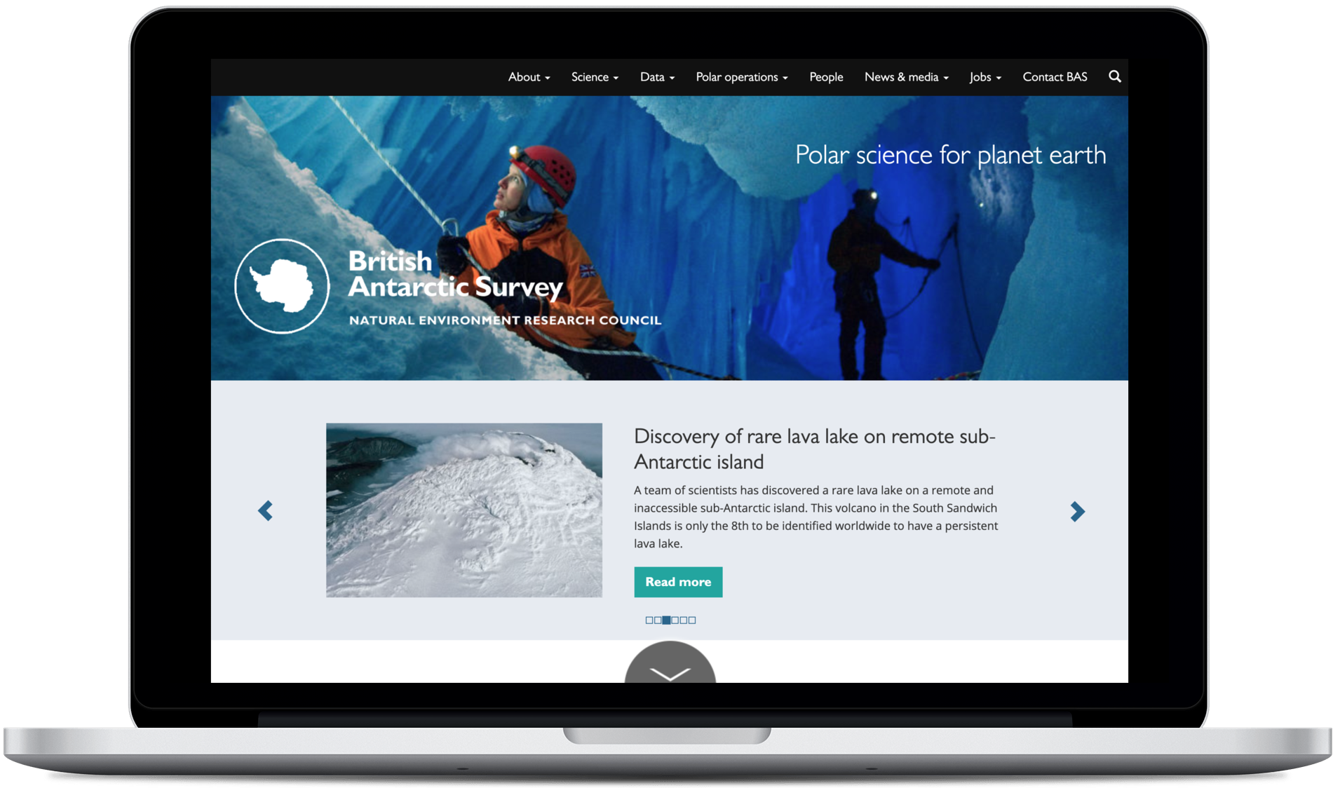 Supporting WordPress at scale for the British Antarctic Survey