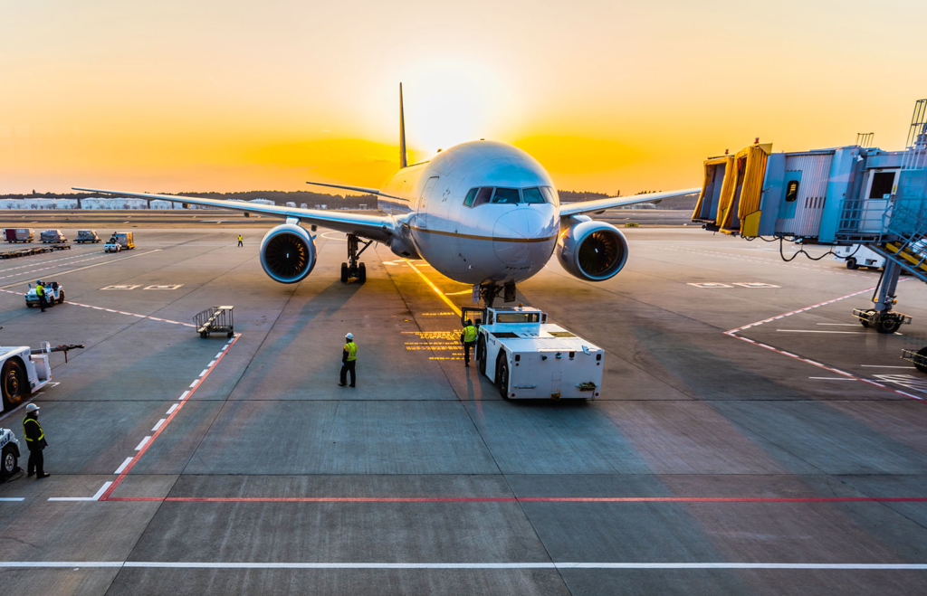 plane at gate
