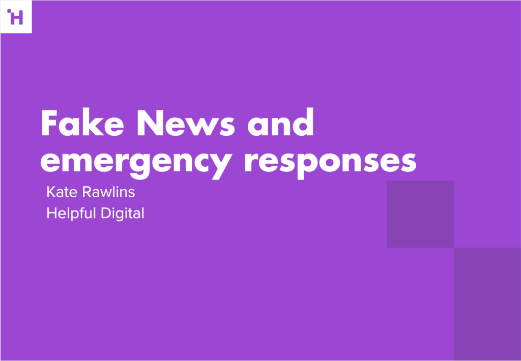 Fake New and emergency responses title graphic