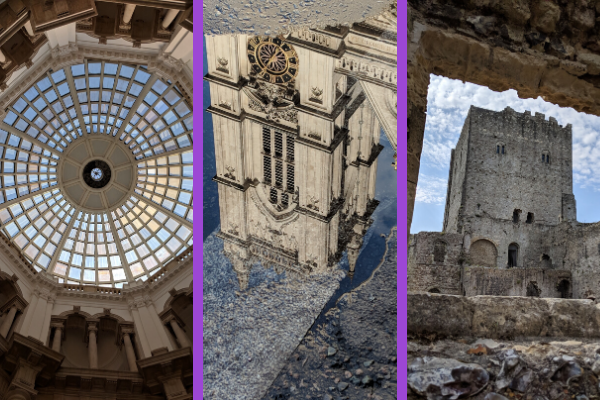 photos showing different angles, reflections and shooting through windows