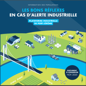 The front cover of public safety leaflet in France